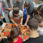 Participants playing Lego Serious Play at Hackathon